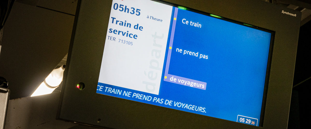 Train vide pour Luzarches (Paris-Nord, Septembre 2014)