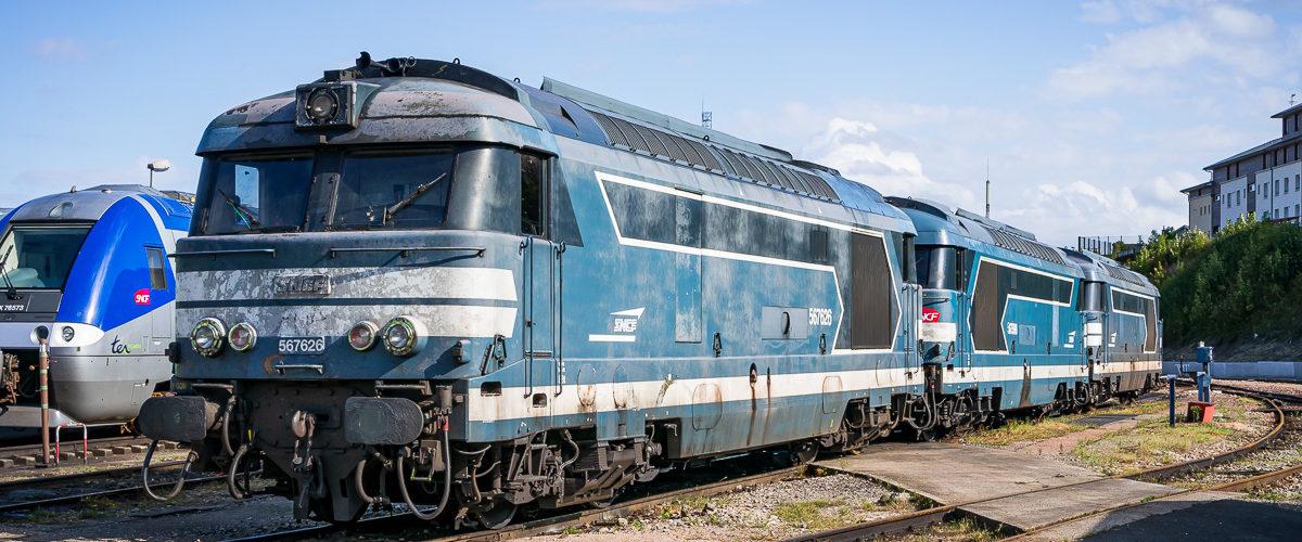 Les grosses bleues se reposent au dépôt d'Amiens (Septembre 2015)