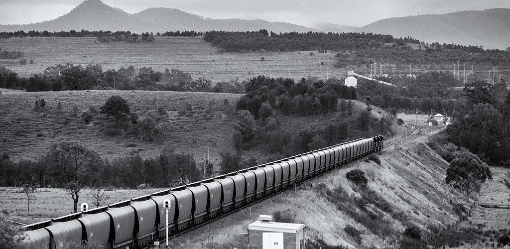 Cette vue permet d'apprécier les installations minières de Mt Thorley, près de Singleton.