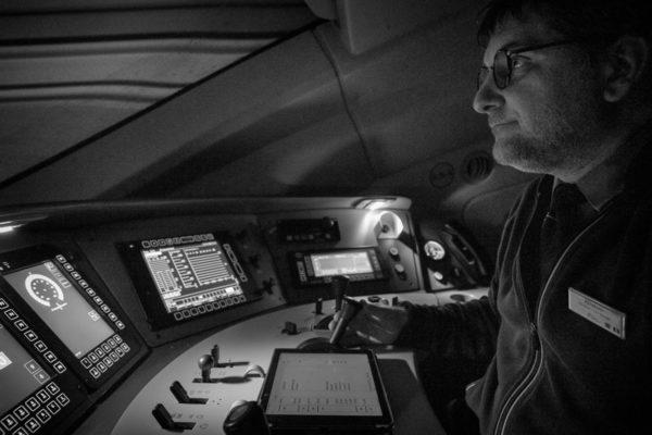Autoportrait - Vue 4 - Traversée du Tunnel sous la Manche