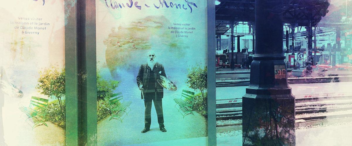 L'impressionisme n'est jamais très loin en gare de Paris Saint-Lazare.