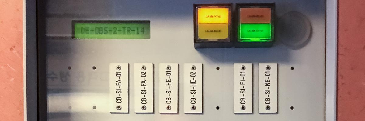 Etiquettes des équipements d'une rame KTX-I