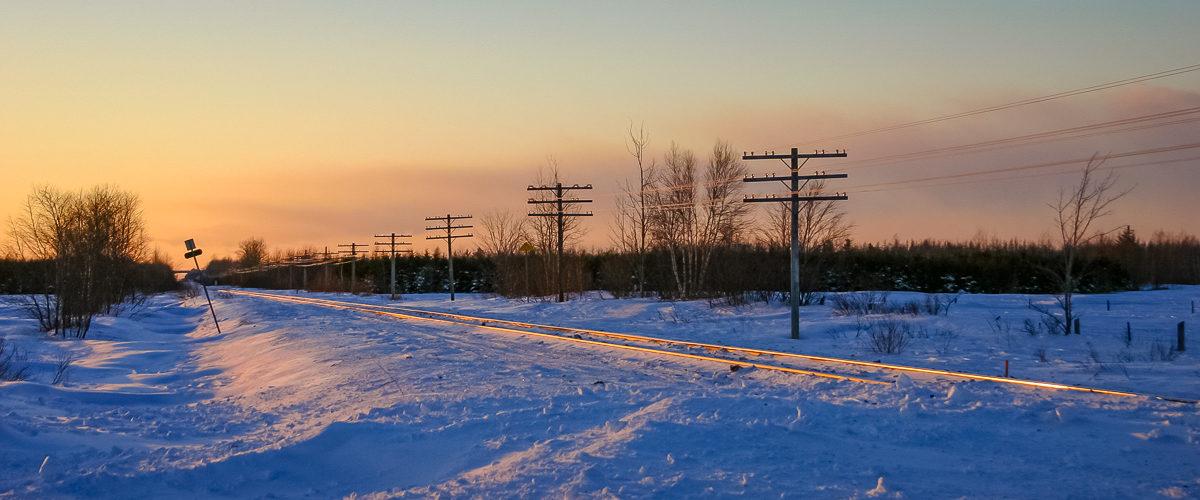 Toute la solitude de l'hiver canadien, quelque part au nord de la ville de Québec. 01/2003