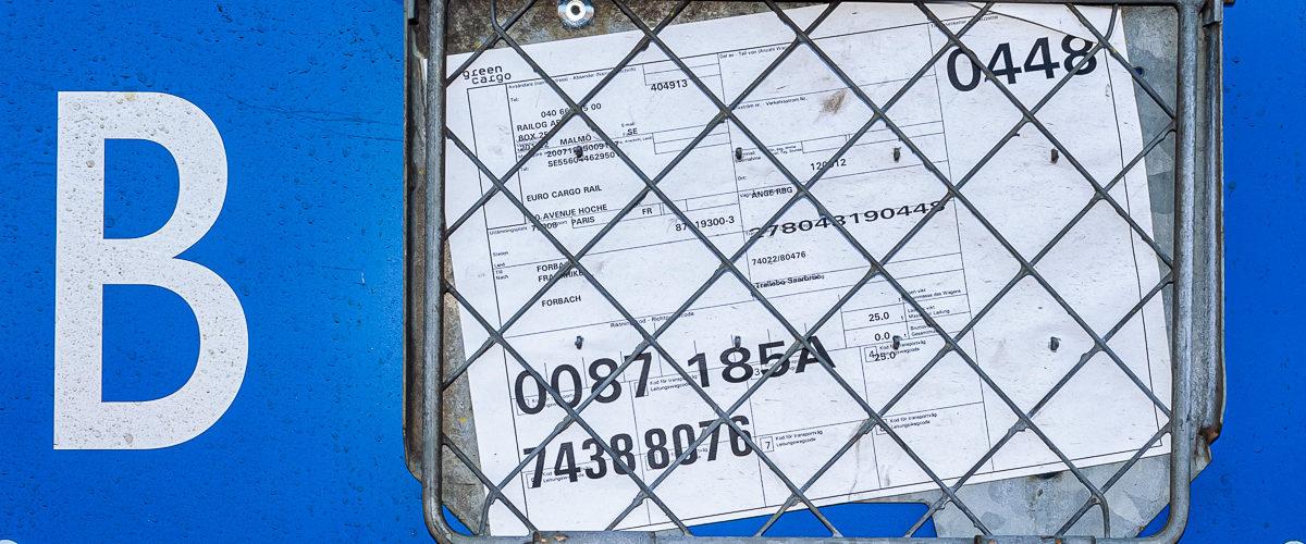 La wagon bleu de green cargo (Décembre 2007)